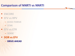 Comparison of NNRTI vs NNRTI