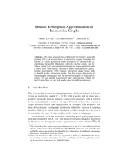 Densest Subgraph Approximation on Intersection Graphs