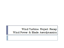 Wind Turbine Project Recap