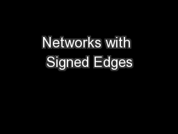 Networks with Signed Edges
