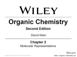 Organic Chemistry Second Edition PowerPoint PPT Presentation