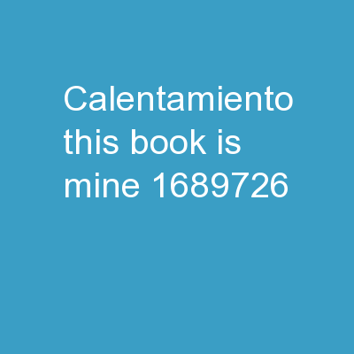 Calentamiento This book is mine (