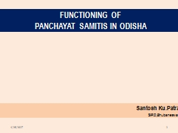 Functioning of Panchayat