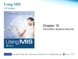 Using MIS 10 th  Edition