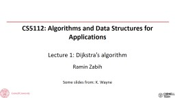 CS5112: Algorithms and Data Structures for Applications