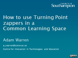 How to use Turning Point zappers in a PowerPoint PPT Presentation