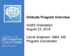 Ombuds  Office  Overview PowerPoint PPT Presentation
