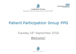 Patient Participation Group PPG