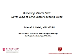 Disrupting Cancer Care: