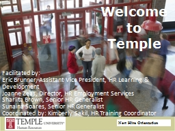 Welcome  to Temple Facilitated