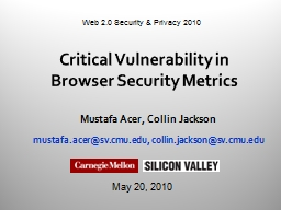 Critical Vulnerability in Browser Security Metrics