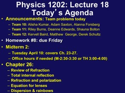 Physics 1202: Lecture 18