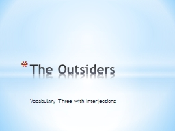 Vocabulary Three with Interjections