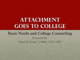 Attachment  Goes to College
