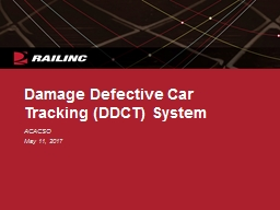 Damage Defective Car Tracking (DDCT) System