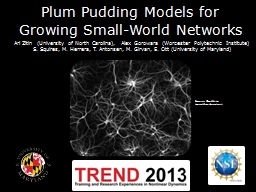 Plum Pudding Models for Growing Small-World Networks