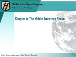 Chapter 4: The Middle American Realm