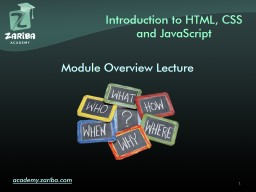 Introduction to  HTML a cademy.zariba.com