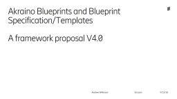 Akraino  Blueprints and Blueprint Specification/Templates
