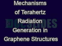 Mechanisms of Terahertz Radiation Generation in Graphene Structures