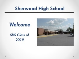 Sherwood High School Welcome