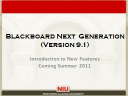 Blackboard Next Generation (Version 9.1)