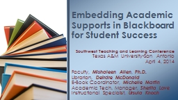 Southwest Teaching and Learning Conference