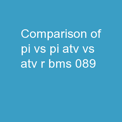 Comparison of PI vs PI ATV vs ATV/r			 	BMS 089