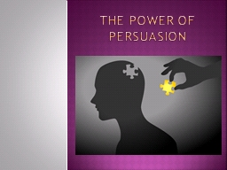 The power of persuasion Persuasive vocabulary: