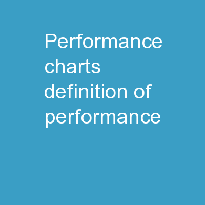 Performance Charts Definition of Performance