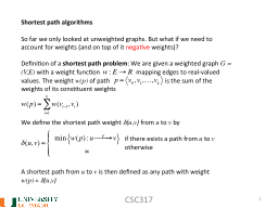 CSC317 1 Shortest  path