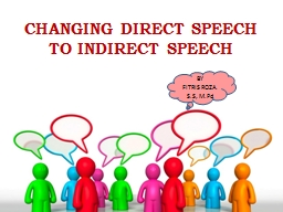 CHANGING DIRECT SPEECH  TO