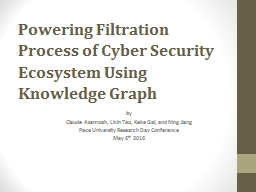 Powering Filtration Process of Cyber Security Ecosystem Using Knowledge Graph