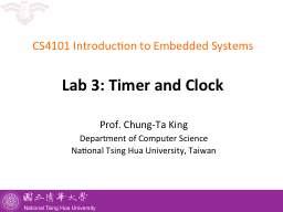 CS4101  Introduction to Embedded Systems