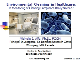 Environmental Cleaning in Healthcare: