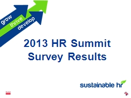 2013 HR Summit  Survey Results