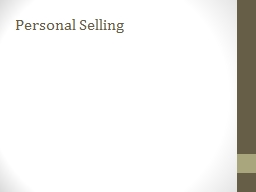 Personal Selling Intro Videos