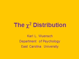 The  ? 2  Distribution