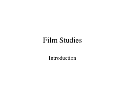 Film Studies Introduction