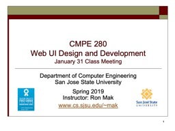 CMPE 280 Web UI Design and Development PowerPoint Presentation, PPT - DocSlides