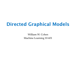 Directed Graphical Models