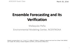 Ensemble Forecasting and