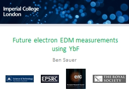 Future electron EDM measurements using YbF