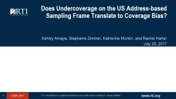 Does Undercoverage on the US Address-based Sampling Frame Translate to Coverage Bias?