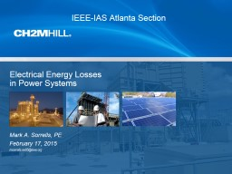 Electrical Energy  Losses