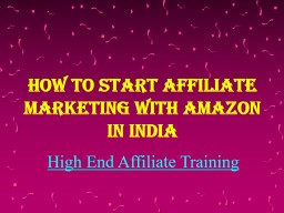 How to Start Affiliate Marketing with Amazon in India