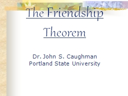 The  Friendship  Theorem