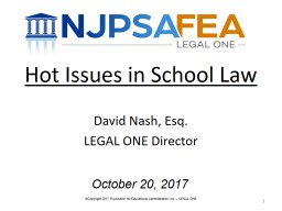Hot Issues in School Law