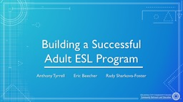 Building a Successful Adult ESL Program