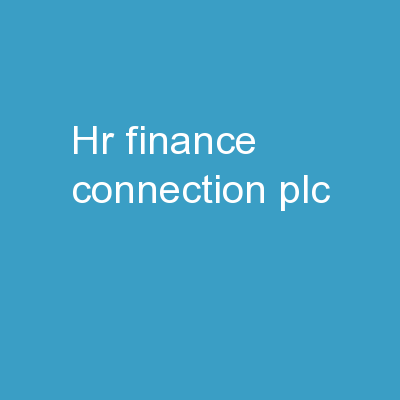 HR/Finance Connection PLC